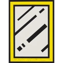 ROY LICHTENSTEIN - Mirror, from Harvey Gantt, 1990