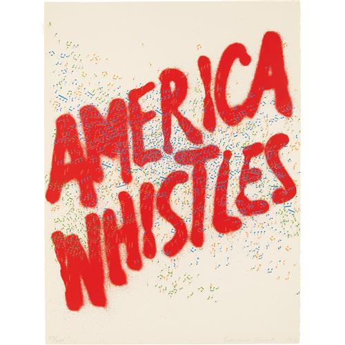 ED RUSCHA - America Whistles, from America: The Third Century, 1976