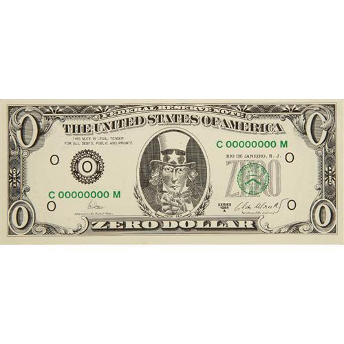 CILDO MEIRELES - Zero Dollar, 1978-84