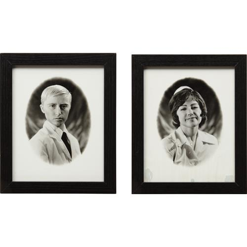 CINDY SHERMAN - Untitled (Doctor and Nurse diptych), 1980-87