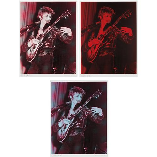 RUSSELL YOUNG AND MICK ROCK - David Bowie: three prints, 2008