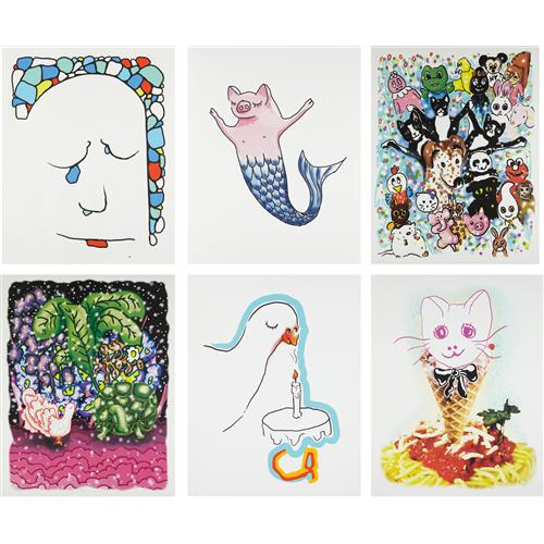 URS FISCHER - Stonewaller; Cakesniffer; Pet Parade; Goodnight; Spaghetti Cat; and Pigmaid, 2015