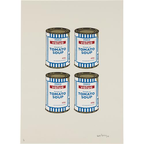 BANKSY - Soup Cans Quad (Cream paper), 2006