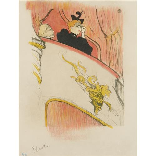 HENRI DE TOULOUSE-LAUTREC - La loge au mascaron doré (The Box with the Gilded Mask), 1893