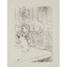 """HENRI DE TOULOUSE-LAUTREC - A la souris - Madame Palmyre (In the Cabaret """"La Souris"""