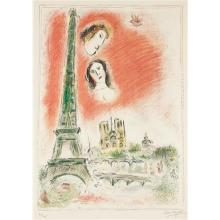 MARC CHAGALL - Le rêve de Paris (The Dream of Paris), 1969-70