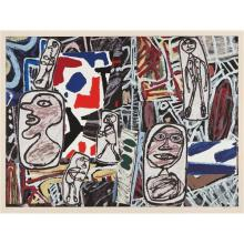 JEAN DUBUFFET - Faits mémorables I (Memorable Events I), 1978