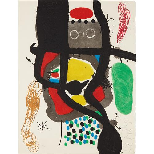 JOAN MIRÓ - Le Caissier (The Cashier), 1969