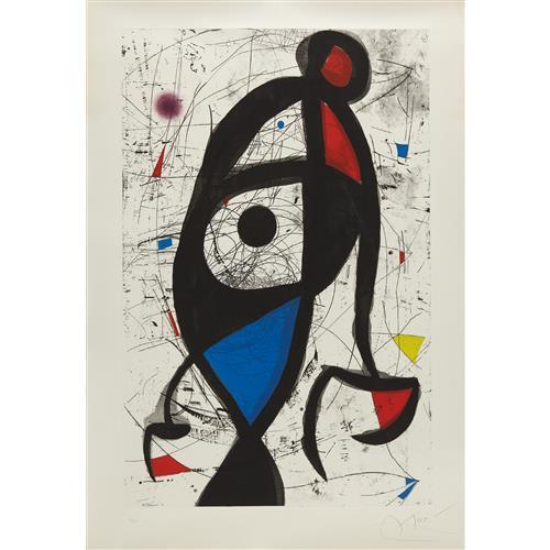 JOAN MIRÓ - La Contre-balancée (Counter-Balanced), 1975