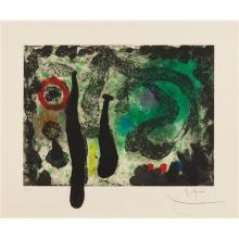 JOAN MIRÓ - Le Jardin de mousse (The Moss Garden), 1968