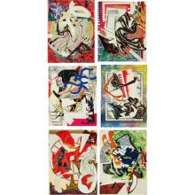 FRANK STELLA - Waves II: six prints, 1985-1989