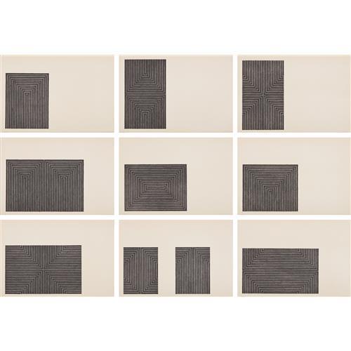 FRANK STELLA - Black Series I, 1967