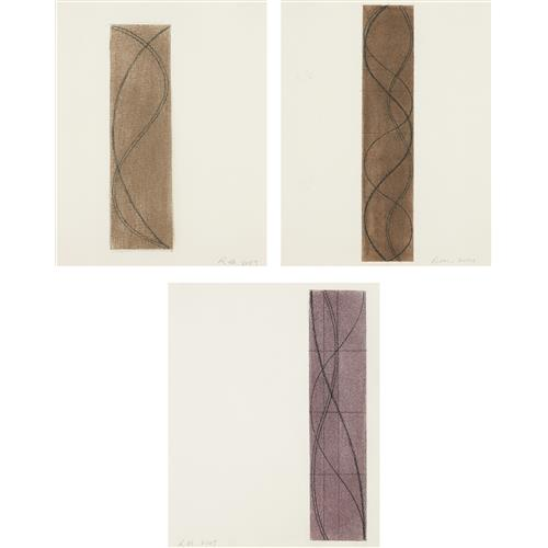 ROBERT MANGOLD - Untitled (three Column drawings), 2003-05