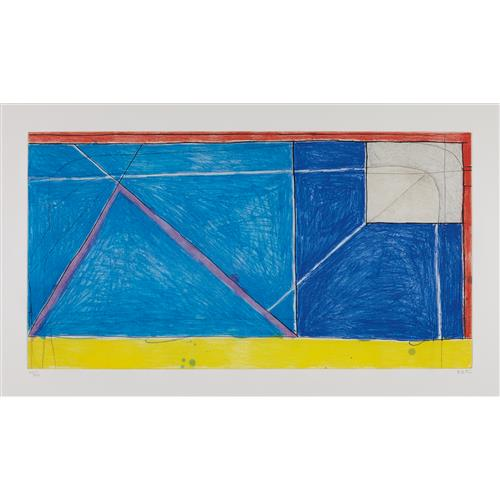 RICHARD DIEBENKORN - Red-Yellow-Blue, 1986
