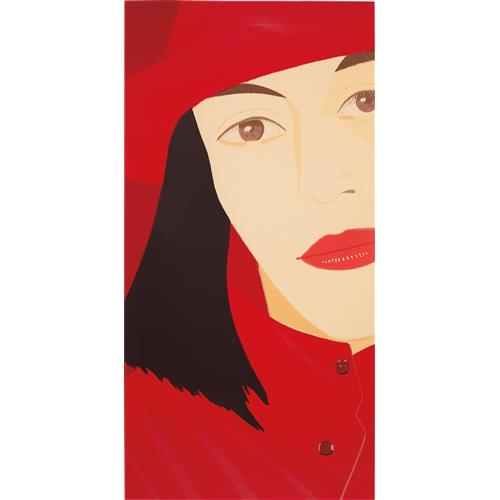 ALEX KATZ - Red Coat, 1983