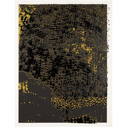EL ANATSUI - Untitled (Black Edge with Pearl), 2013
