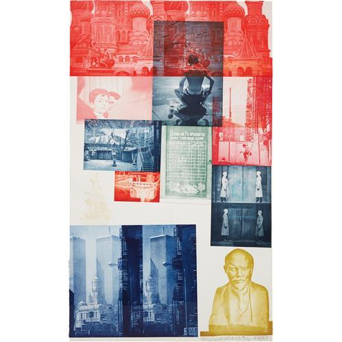 ROBERT RAUSCHENBERG - Soviet American Array #1, 1988-89