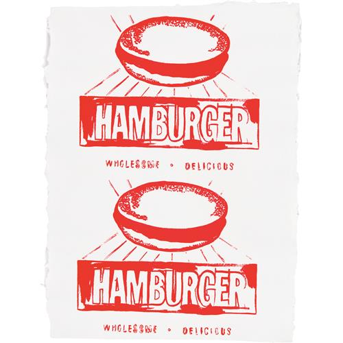 ANDY WARHOL - Hamburger (Double), 1986