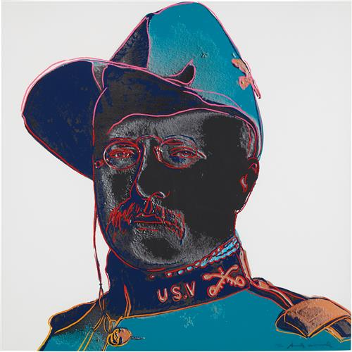 ANDY WARHOL - Teddy Roosevelt, from Cowboys and Indians, 1986