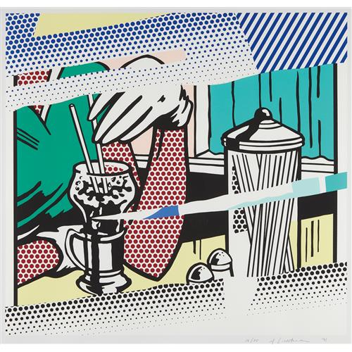 ROY LICHTENSTEIN - Reflections on Soda Fountain, from The Reflection Series, 1991