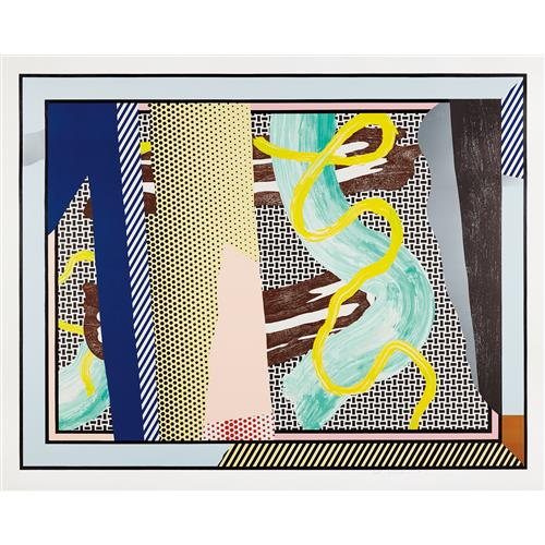 ROY LICHTENSTEIN - Reflections on Brushstrokes, from the Reflection Series, 1990