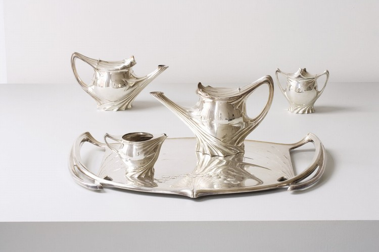 Rare five piece coffee and tea service, ca. 1900-03