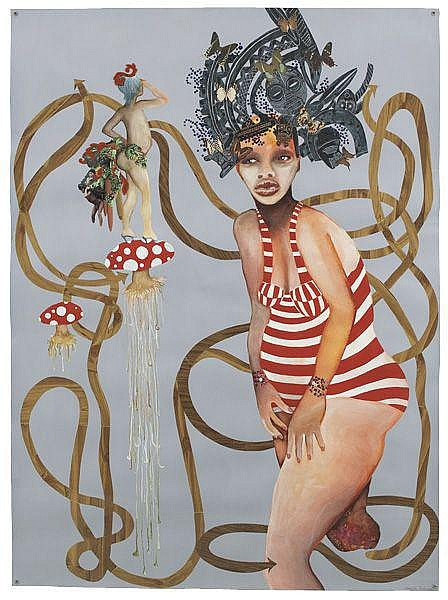 WANGECHI MUTU Soul on a Peg Leg, 2001 Ink,