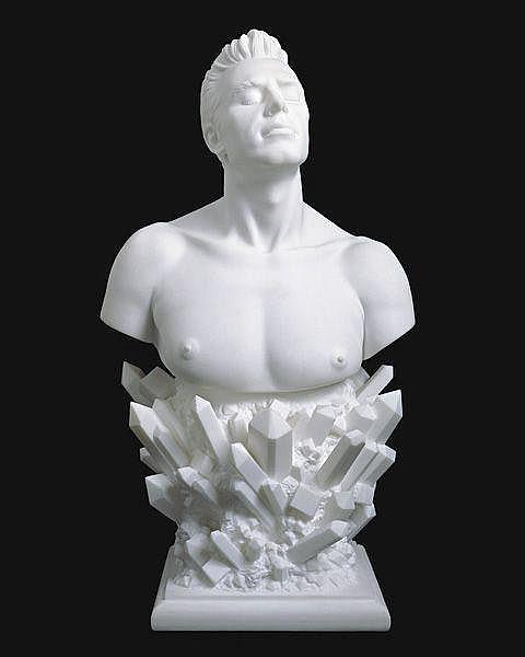 JEFF KOONS Self-Portrait, 1991 Marble. 37 1/2 x 20