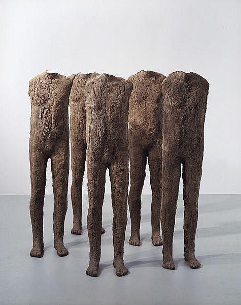 Contemporary Art: MAGDALENA ABAKANOWICZ Crowd -