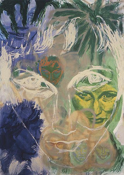 Contemporary Art:  RITA ACKERMANN Sameface, 1997