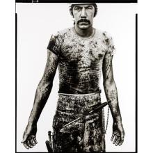 RICHARD AVEDON - Blue Cloud Wright, slaughterhouse worker, Omaha, Nebraska, August 10, 1979, 1979