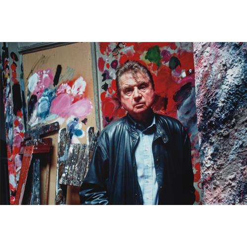 BRUCE BERNARD - Francis Bacon in his studio, Reece Mews, 1983