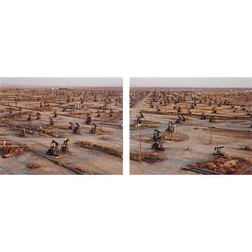 EDWARD BURTYNSKY - Oil Fields #19a & #19b, Belridge, California, 2003