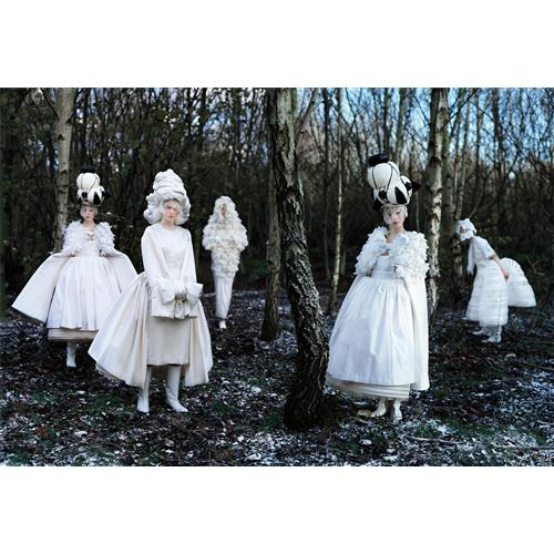 TIM WALKER - Xiao Wen Ju, Frida Gustavsson, Anaïs Pouliot & Fei Fei Sun, Comme des Garçons 'White Drama' Collection, London, 2011