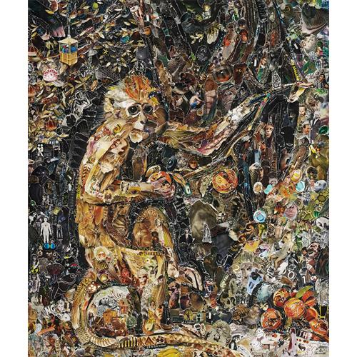 VIK MUNIZ - Green Monkey, after George Stubbs from Pictures of Magazines 2, 2011