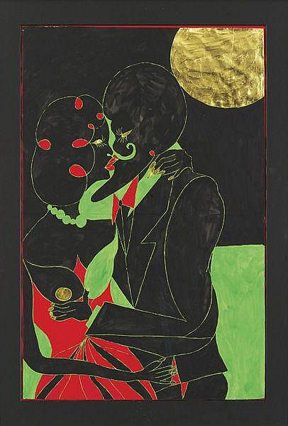 CHRIS OFILI Eye to Eye II, 2003