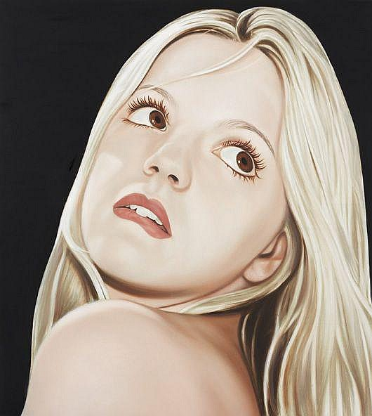 RICHARD PHILLIPS  Lippen Beißer (Lip-Biter), 1999