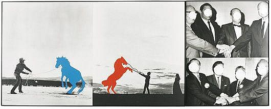 JOHN BALDESSARI  Hands / Horses (To Agree), 1987