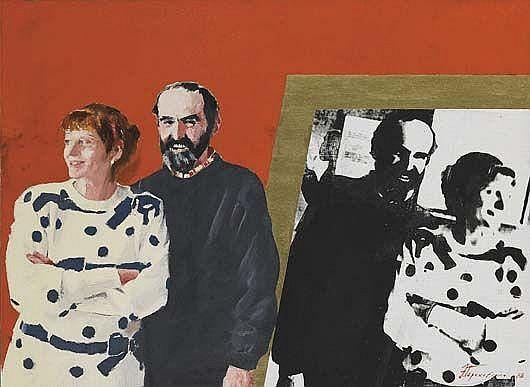 Untitled (Portrait of Erik Bulatov with his wife), 1988