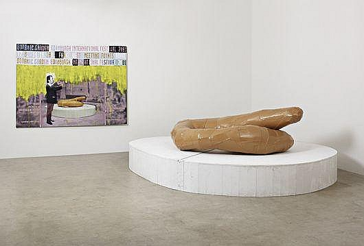 Sculpture: Meeting Point 2, 2000; Painting: Plakatentwürf (Poster design) (Meeting Points), 2001