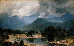 Property of a lady ALEXANDER WYANT (1836-1892) in the KEENE VALLEY, new york oil on canvas
