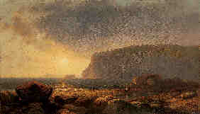Property of a lady WILLIAM HART (1823-1894) rocky coast at sunset signed and dated