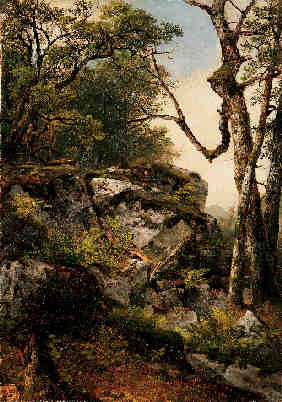 Property of a lady ASHER B. DURAND (1796-1886) woodland scene signed with initials