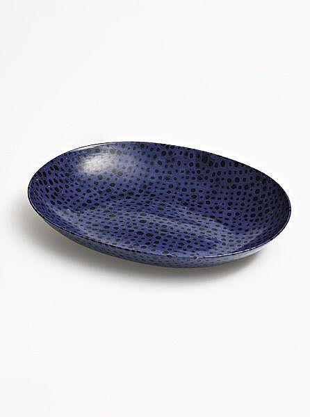 Important murrine glass bowl with molato surface, designed 1940, executed ca. 1962