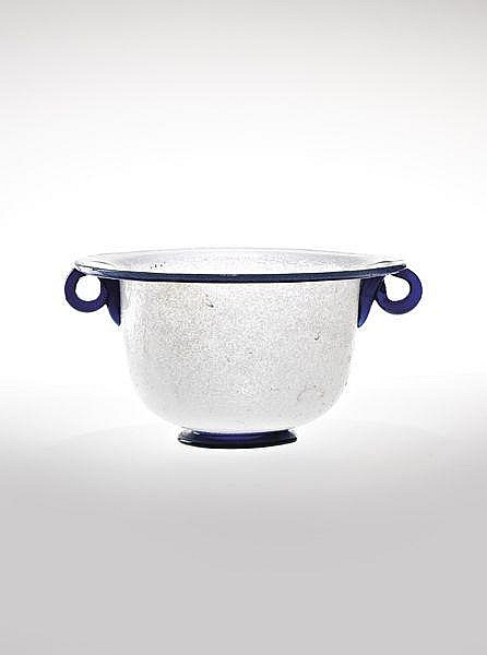 Important early pulegoso glass cup, 1928