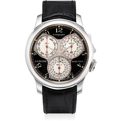f p journe a very fine and rare platinum ergonomic chrono. Black Bedroom Furniture Sets. Home Design Ideas
