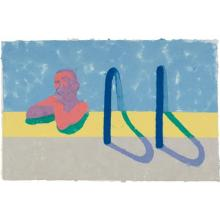 DAVID HOCKNEY - Gregory in the Pool E (Paper Pool 4), 1978