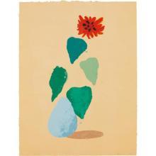 DAVID HOCKNEY - Sunflower H (Paper Pool I), 1978