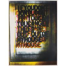 CHRISTOPHER WOOL - My House I, 2000