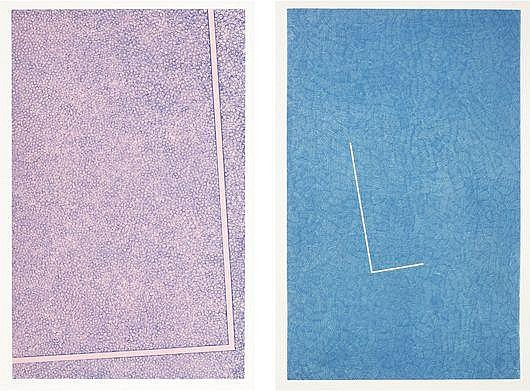 Untitled (pink); and Untitled (blue), 1978